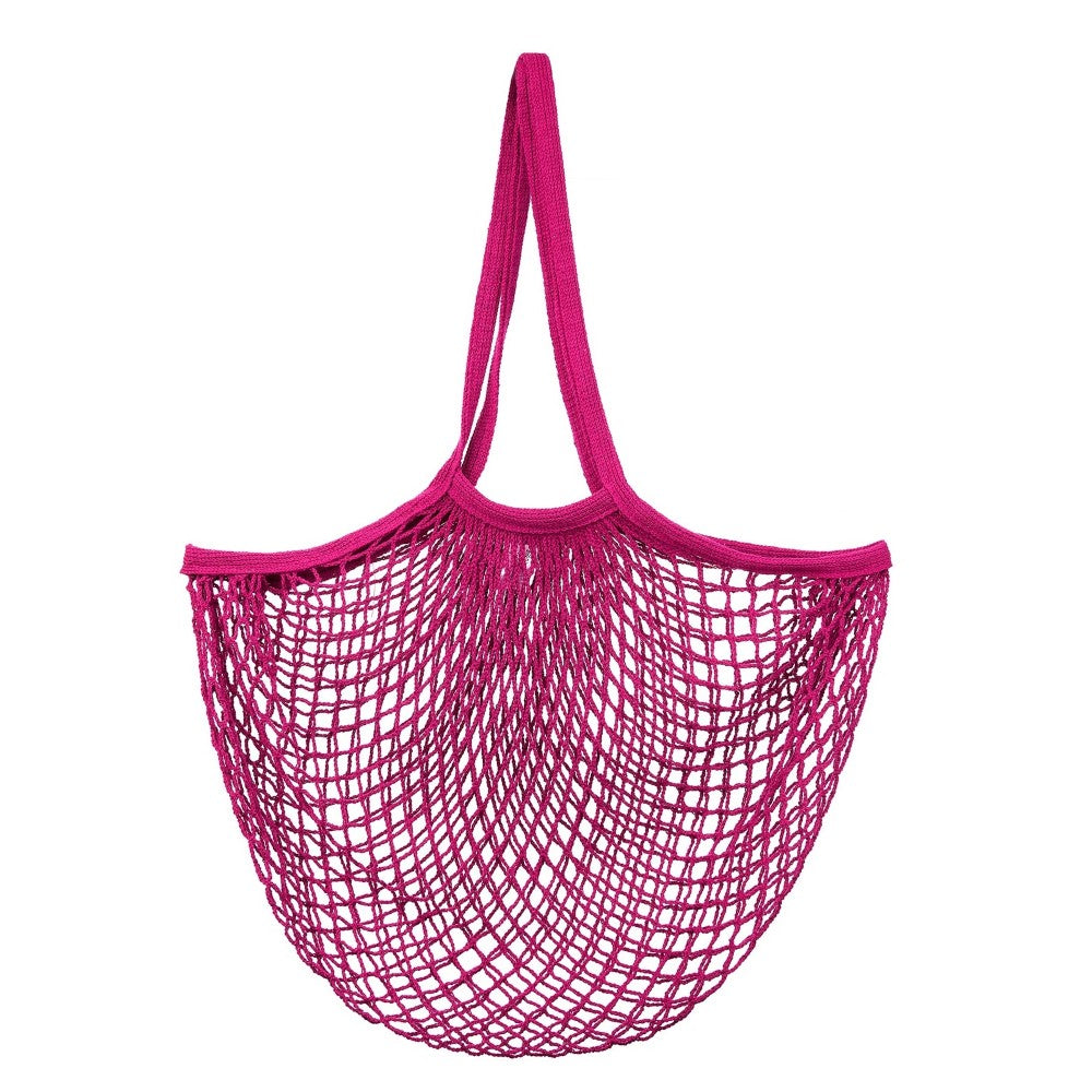 Hot Pink String Shopper Bag