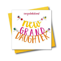 New Granddaughter Pom Pom Card