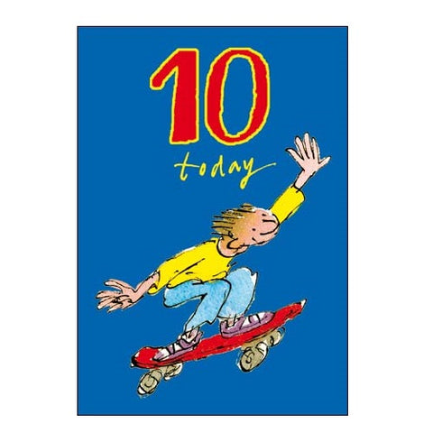 10th Birthday Card Skateboard