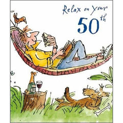50th Birthday Quentin Blake, Decades birthday cards
