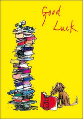 Quentin Blake Good Luck Exams Dog reading