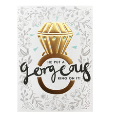 Gorgeous Ring Engagement Card
