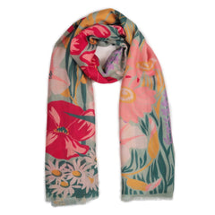 Powder UK Scarf Country Garden Mint