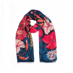 Powder UK  Scarf Country Garden Navy