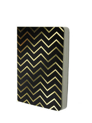 Small Gold Chevron on Black A6, Fathers Day Gifts