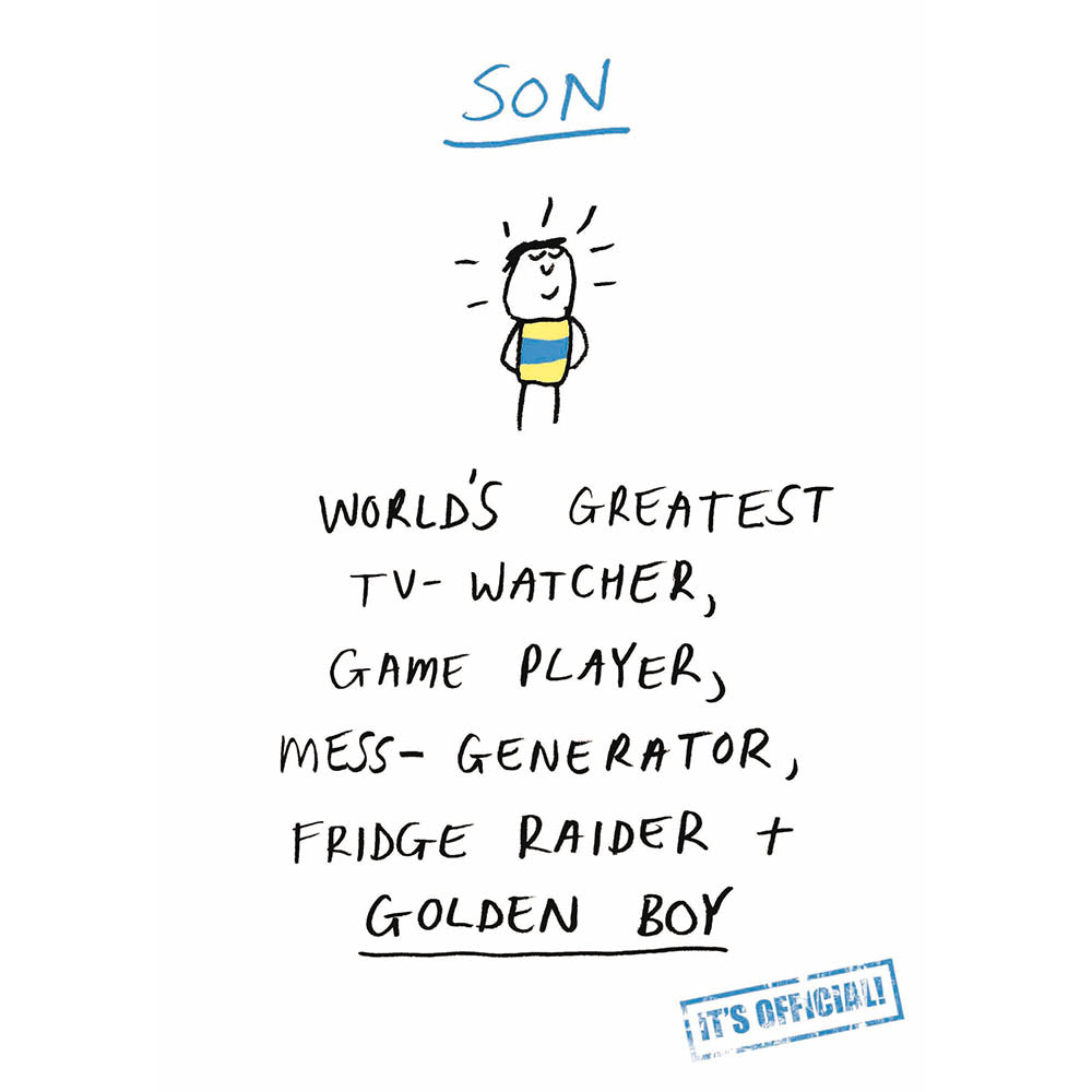 Game player son birthday card