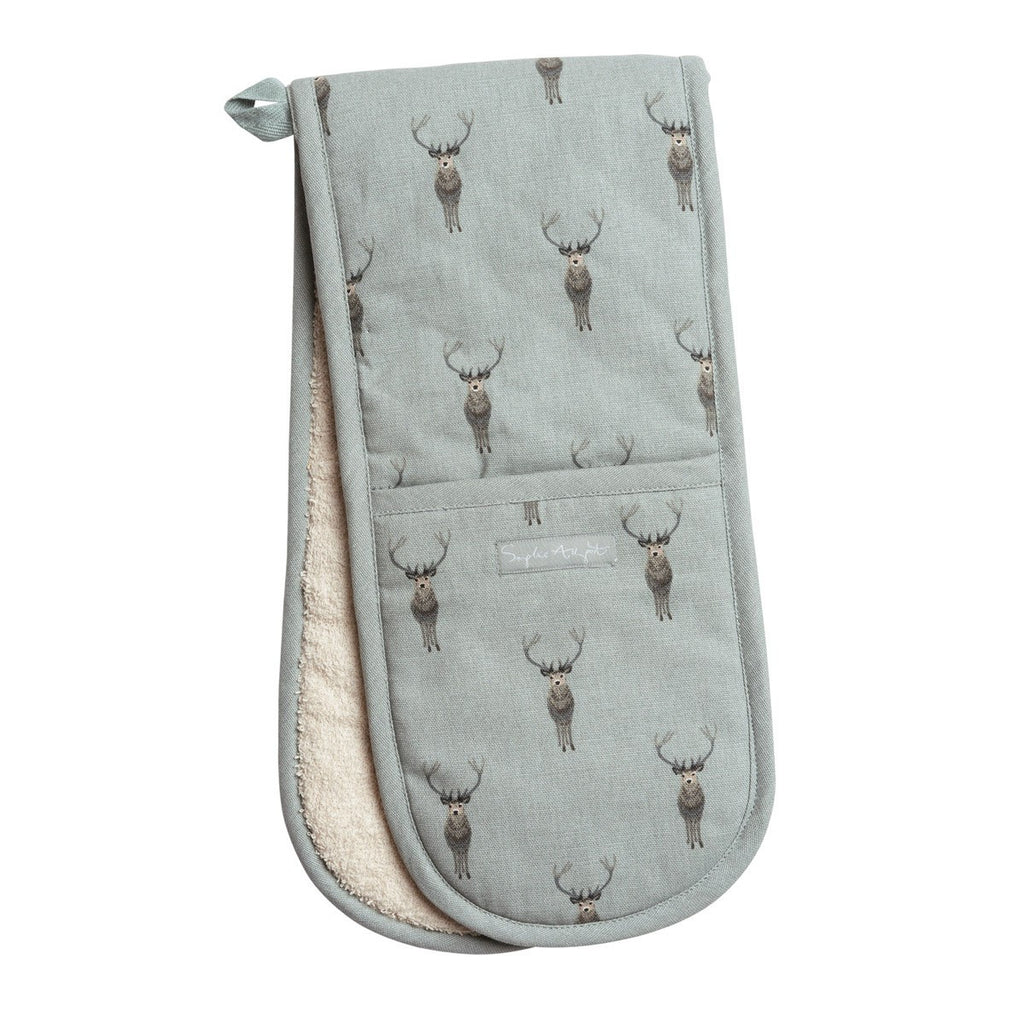 Sophie Allport Highland Stag Double Oven Glove, Kitchen Textiles