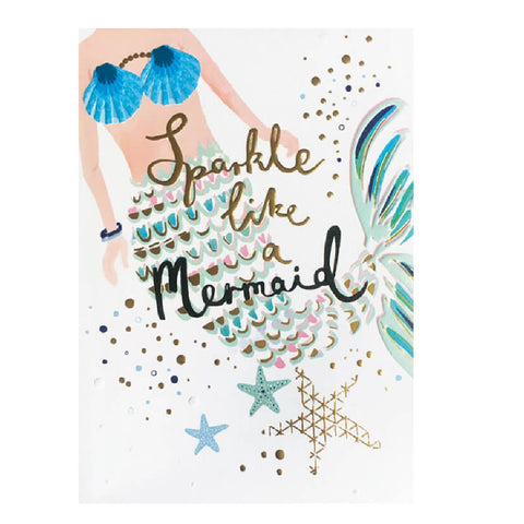 Sparkle Like a Mermaid Card