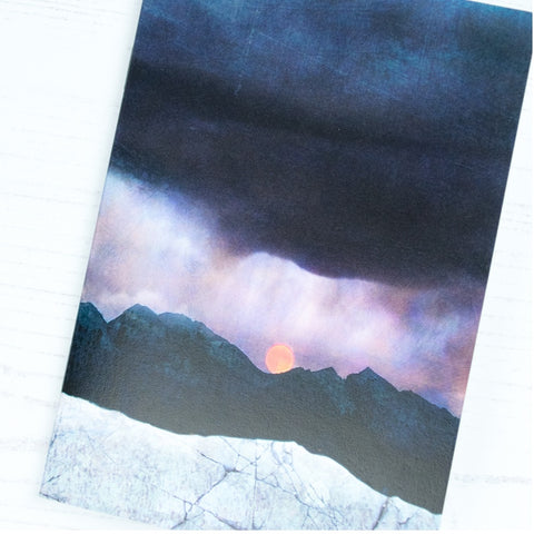 Cath Waters Strawberry Moonrise Notebook