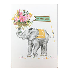 Thank You Elephant Bouquet Card