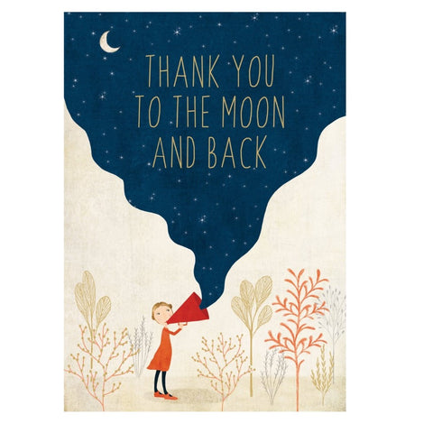 Thank You Moon and Back Card