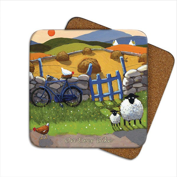 Thomas Joseph On Ewe're Bike Coaster, Coasters and place mats