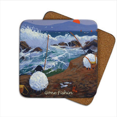 Thomas Joseph Gone Fishin' Single Coaster, Coasters and place mats