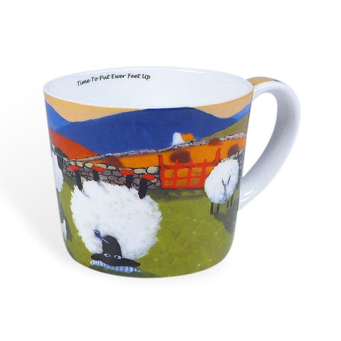 Thomas Joseph Time to Put Ewe'r Feet Up Mug, Mugs