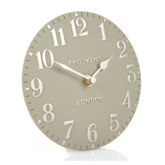 "6"" Arabic Mantel Clock in Cool Milk"