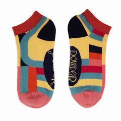 Powder UK Trainer Socks Curved Stripes