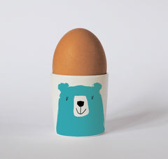 Bear Egg Cup in Turquoise