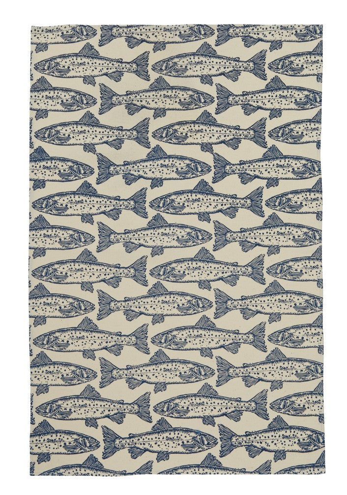 Salmon Tea Towel