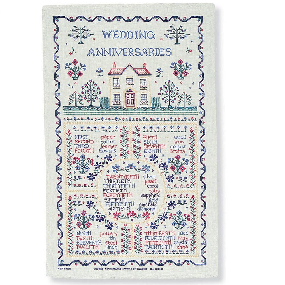 Wedding Sampler Tea Towel