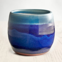 Rupert Blamire Whisky Tumbler in Deep Sea Blue