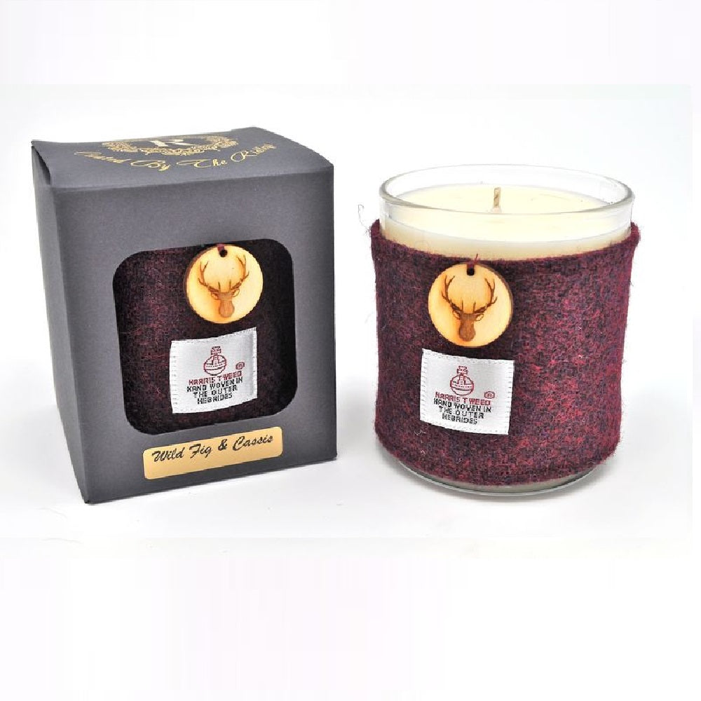 Fig & Cassis Candle in Harris Tweed Sleeve