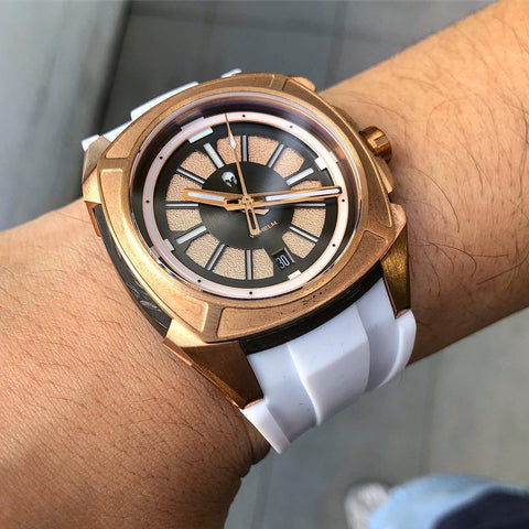 Talos Rosegold on White Rubber