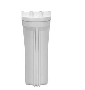 "Standard White 10"" Filter Housing with 3/4"" Ports - Healthy Bowls"