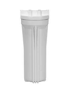 "Standard White 10"" Filter Housing with 1/2"" Ports - Healthy Bowls"