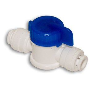 "CCK 1/4""x1/4"" Straight Ball Valve w/ Quick Connect RO Reverse Osmosis - Healthy Bowls"