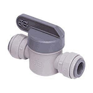 "John Guest PISV0416S 1/2"" x 1/2"" Straight Ball Valve Speedfit to Speedfit Connector Grey - Healthy Bowls"