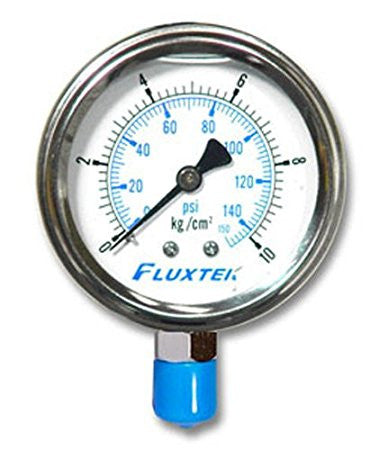 PRG6063 0-150 PSI 1/4 inch MPT Oil-Filled Pressure Gauge - Healthy Bowls
