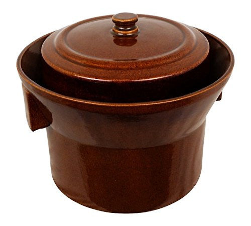 5 L (1.3 Gal) K&K Keramik German Made Fermenting Crock Pot Kerazo FORM_1 - Healthy Bowls