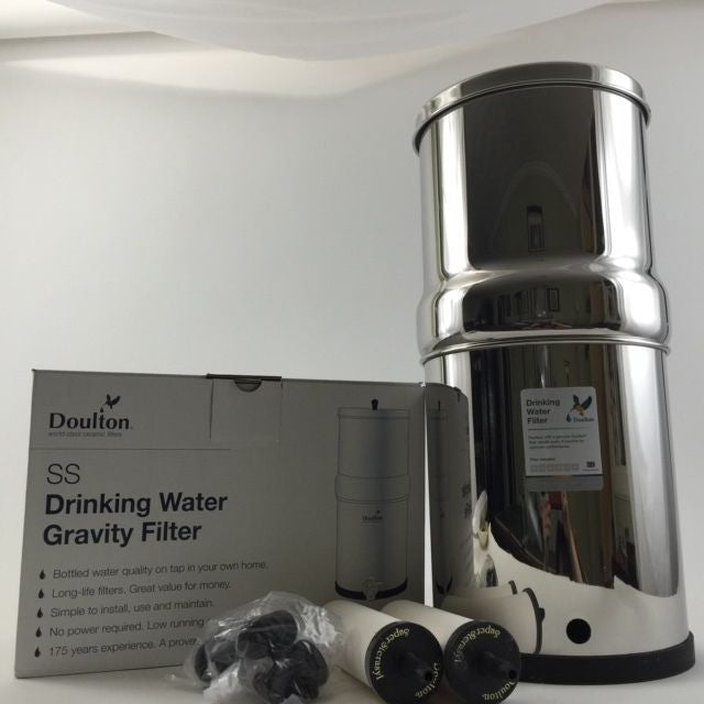 Doulton SS2 Stainless Steel Countertop Gravity Filter System W9361122 New - Healthy Bowls