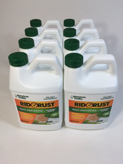 8 X RR2 Rid O' Rust Extreme Water 2X Concentration Stain Preventer 64FL OZ Each - Healthy Bowls