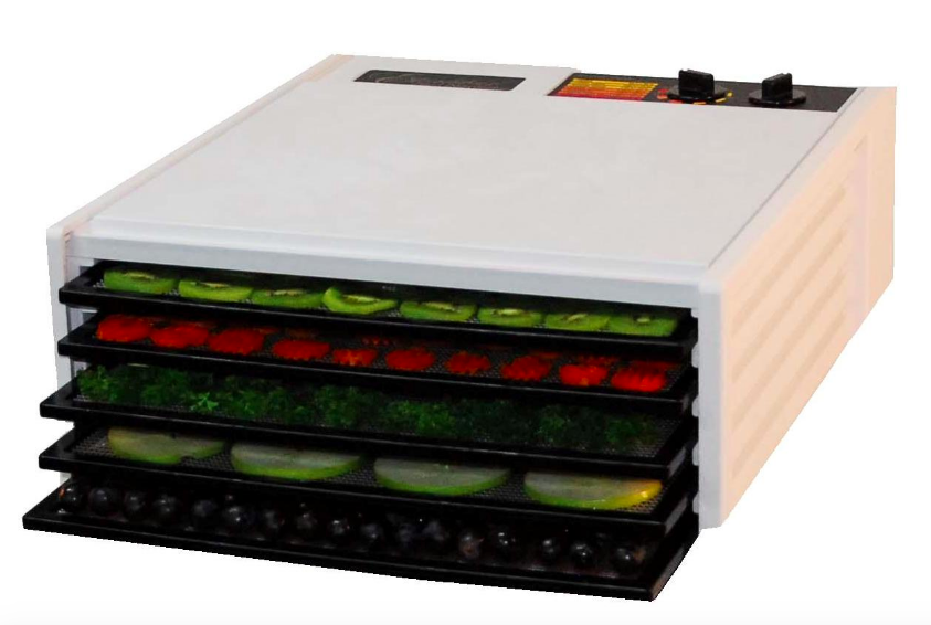 Excalibur Model 3526TW 5 Tray Dehydrator with 26 Hour Timer White New - Healthy Bowls
