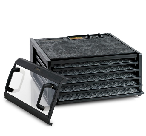 5 Tray Clear Door Excalibur Dehydrator w/Timer 3526TCDB Black New - Healthy Bowls