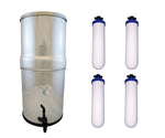 "AquaCera Pioneer™ SS4 Stainless Steel Gravity Filter with Four CeraMetix Candles 7"" W9371835"