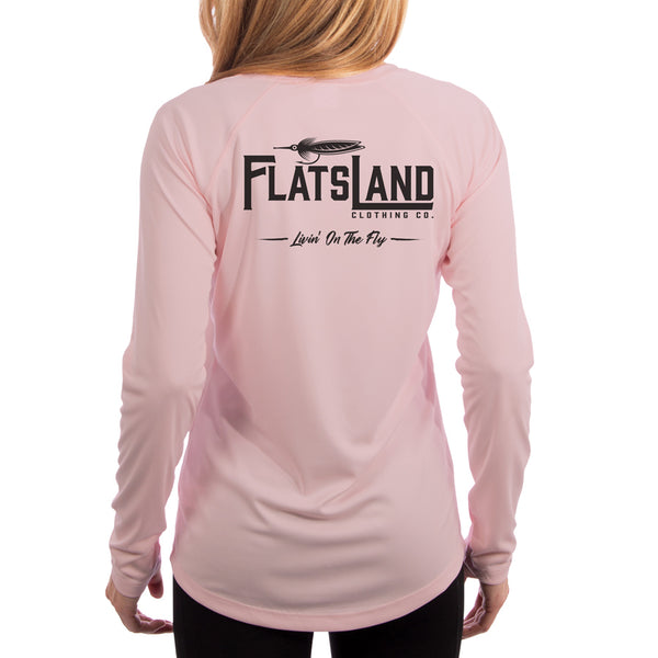 Flatsland Clothing Company LLC - Flatsland Logo v.2 Ladies Performance Shirt - Pink - Performance Shirt