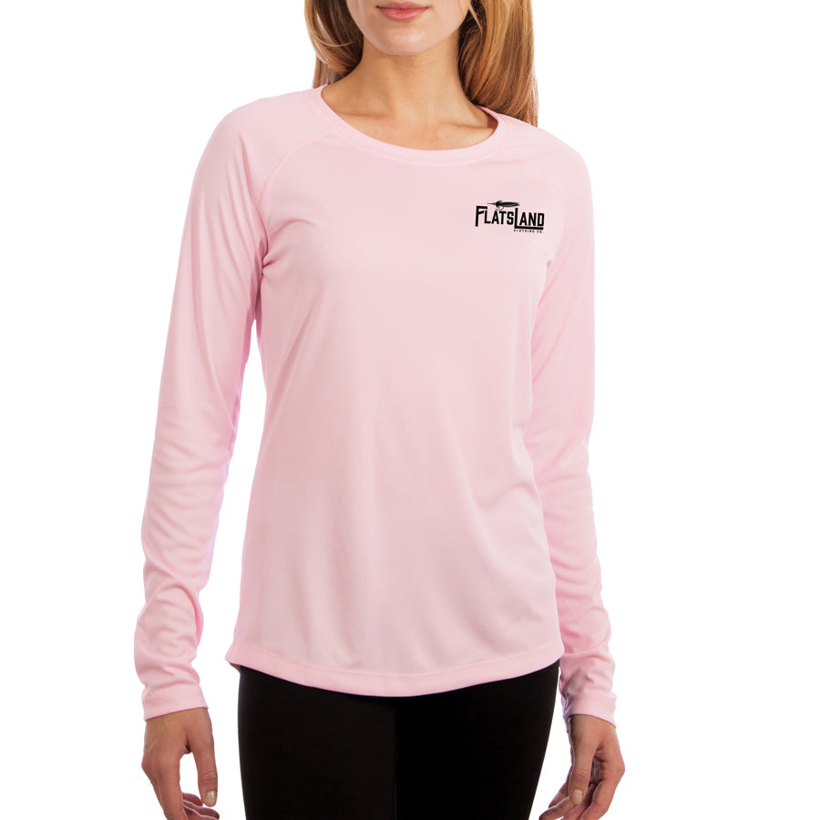 Flatsland Clothing Co. - Flatsland Logo v.2 Ladies Performance Shirt - Pink - Performance Shirt