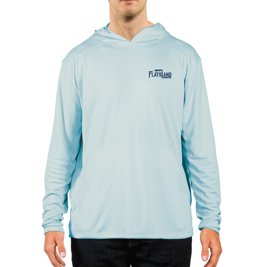 Flatsland Clothing Co. - Home Sweet Flats Performance Hoody - Arctic Blue - Performance Hoody