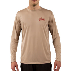 Flatsland Clothing Co. - Red Tails Rising Performance Shirt - Tan - Performance Shirt