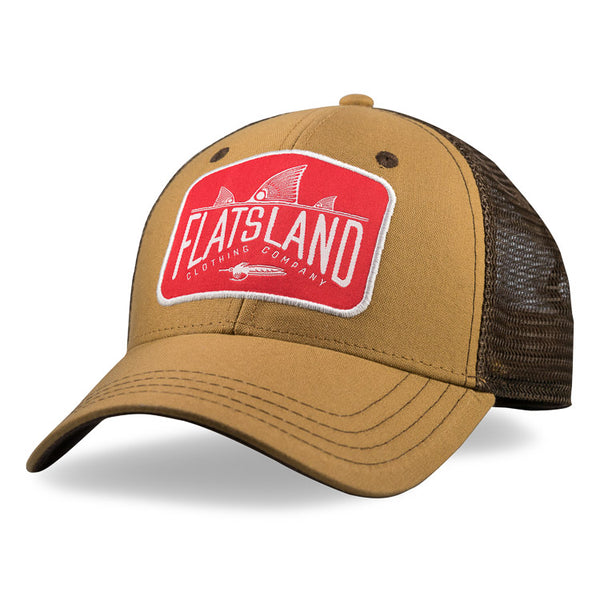 Flatsland Clothing Company LLC - Red Tails Rising Trucker Hat - Brown - Hats
