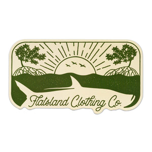 Flatsland Clothing Co. - Sunrise Silver Sticker - Stickers
