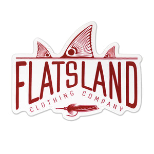 Flatsland Clothing Co. - Red Tails Rising Sticker - Stickers