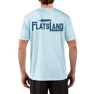 Flatsland Clothing Co. - Flatsland Logo Performance Shirt - Arctic Blue, Short Sleeve - Closeouts