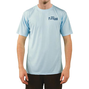Flatsland Clothing Company LLC - Flatsland Logo Performance Shirt - Arctic Blue, Short Sleeve - Closeouts
