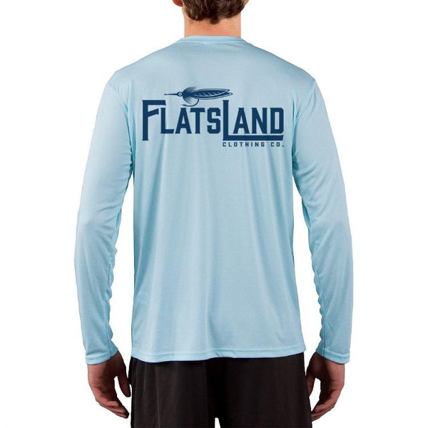 Flatsland Clothing Company LLC - Flatsland Logo Performance Shirt - Arctic Blue - Closeouts