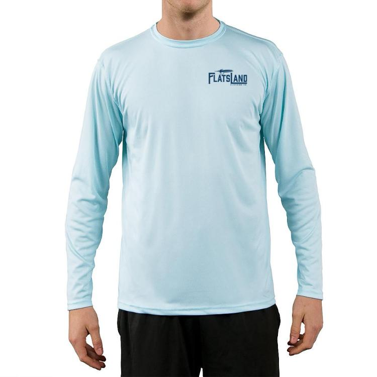 Flatsland Clothing Co. - Flatsland Logo Performance Shirt - Arctic Blue - Closeouts