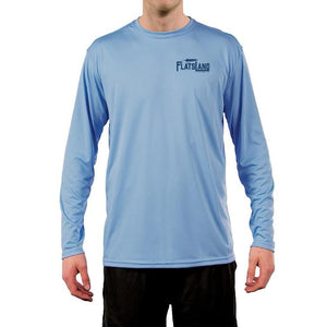 Flatsland Clothing Co. - Redfish Tailing Performance Shirt - Columbia Blue - Closeouts