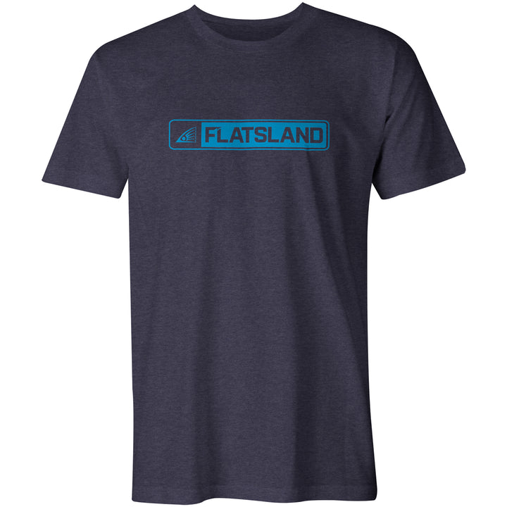 Flatsland Clothing Company LLC - Boxed Logo Eco Tri-Blend Tee - Short Sleeve T-shirts